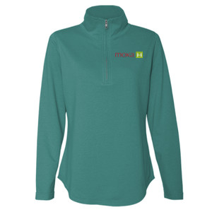 LAT - Women's Quarter Zip French Terry Pullover